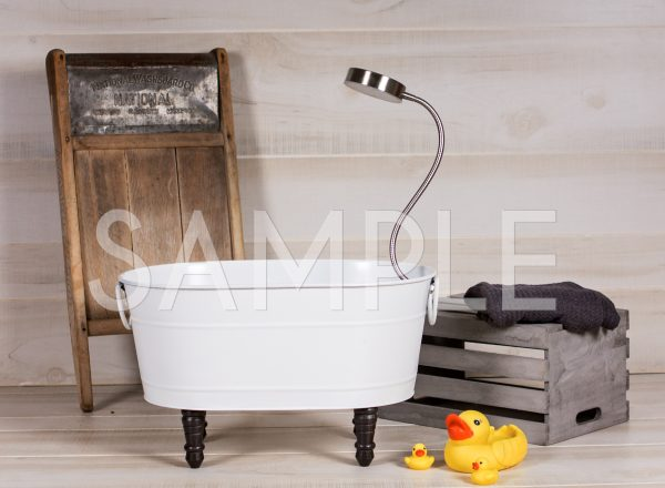 child bathtub digital backdrop
