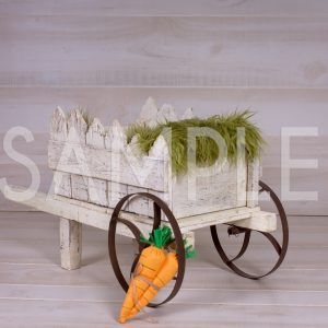 spring/easter wagon digital backdrop